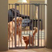 Savic Dog Barrier hundgrind med kattdörr - H 107 x B 75-84 cm