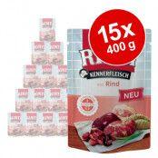 Ekonomipack: RINTI Pouches 30 x 400 g - Fjäderfähjärta