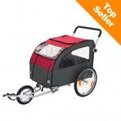 Globetrotter cykelvagn för hundar, inkl. jogging-set - L 162 x B 81 x H 104 cm (inkl. jogging-set)