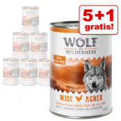 5 + 1 på köpet! 6 x 400 g Wolf of Wilderness våtfoder - The Taste Of The Mediterranean