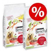 Ekonomipack: 2 / 3 påsar Beneful hundfoder - Playful Life 7+ (2 x 12 kg)