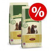 Ekonomipack: 2 x 10/15 kg James Wellbeloved hundfoder - Adult Lamb & Vegetables - spannmålsfritt (2 x 10 kg)