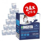 Ekonomipack: Bozita Chunks in Jelly 24 x 370 g - Blandpack: lax, kyckling & ris, ren