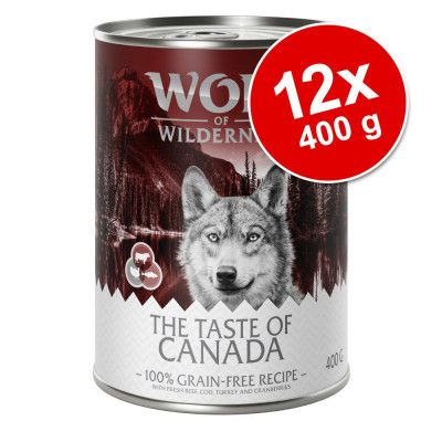 Ekonomipack: Wolf of Wilderness The Taste Of 12 x 400 g The Taste Of The Outback
