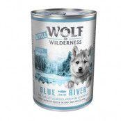 Little Wolf of Wilderness 6 x 400 g - Blue River Junior - Chicken & Salmon
