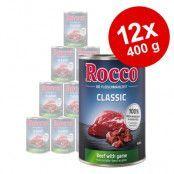 Rocco Classic 12 x 400 g hundfoder Nötkött & anka