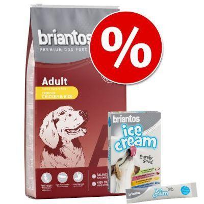 14 kg Briantos torrfoder + 8 x 20 g Briantos Ice Cream på köpet! - Maxi