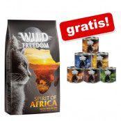 6 kg Wild Freedom torrfoder + 6 x 200 g våtfoder på köpet! - Adult Wild Hills - Duck