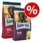 Blandat ekonomipack: 2 x 12,5 kg Happy Dog Supreme - Blandpack: Africa + New Zealand