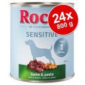 Ekonomipack: Rocco Sensitive 24 x 800 g - Vilt & pasta