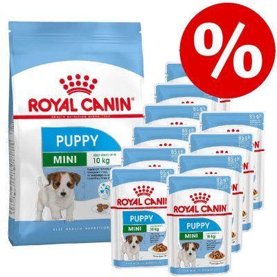 Royal Canin torrfoder för valp + passande våtfoder till kanonpris!  - Maxi Puppy Active (15 kg) + Maxi Puppy (10 x 140 g)