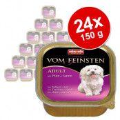 Gourmetpaket: Animonda Vom Feinsten 24 x 150 g - Adult spannmålsfritt: Fågel & kalv