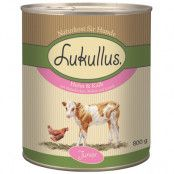 Lukullus Junior Kyckling & kalv - 6 x 800 g
