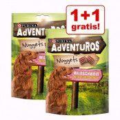 1 + 1 på köpet! 2 x 300 g AdVENTuROS hundgodis - 2 x 300 g