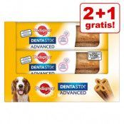 2 + 1 på köpet! 3 x Pedigree Dentastix Advanced - Medelstora hundar (10-25 kg)