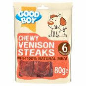 Chewy Venison Steaks 80g