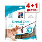 4 + 1 på köpet! 5 x Hill's snacks - Dental Care (5 x 170 g)