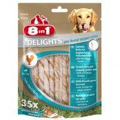 8in1 Delights Pro Dental Twisted Sticks kyckling - 190 g (35 st)