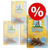 Ekonomipack: Barkoo Dental Snacks - Små hundar (56 st)