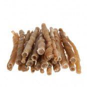 Trixie skruvade tuggrullar (oxhud), 12,5 cm - Ekonomipack: 2 x 100 st (1 kg)