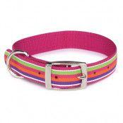 Brite Stripe Halsband - Rosa