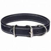 Flat Leather Black - Hundhalsband - 2XL