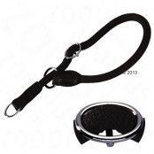 HUNTER Freestyle halsband halvstryp, svart - Storlek 50: justerbart till max. 50 cm, Ø 10 mm