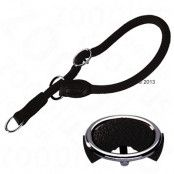 HUNTER Freestyle halsband halvstryp, svart - Storlek 55: justerbart till max. 55 cm, Ø 10 mm