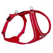 Curli Belka Comfort sele - röd - Stl. L: 70 - 76 cm bröstomfång
