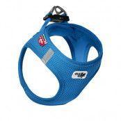 Curli Vest Air-Mesh sele - blå - Stl. M: 45 - 50 cm bröstomfång