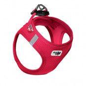 Curli Vest Air-Mesh sele - röd - Stl. 3XS: 26 - 30 cm bröstomfång