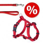 HUNTER set: Ecco Sport Vario Rapid sele + koppel, rött Sele XXS - XS + koppel 200 cm / rött