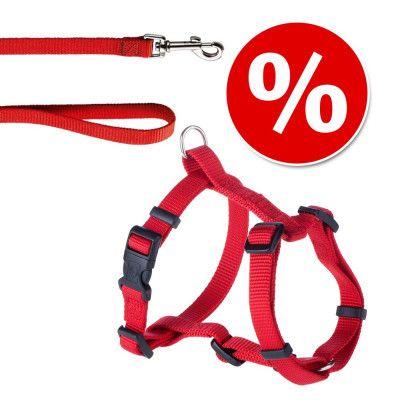 HUNTER set: Ecco Sport Vario Rapid sele + koppel, rött - Sele 45 - 76 cm + koppel 200 cm