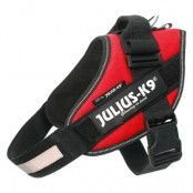 JULIUS-K9 IDC®-Powersele röd - Stl. 0: bröstomfång 58 - 76 cm