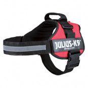 JULIUS-K9® Powersele - röd - Stl. 0: 58 - 76 cm bröstomfång