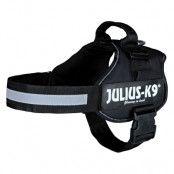 JULIUS-K9® Powersele - svart - Stl. Mini-Mini: 40 - 53 cm bröstomfång