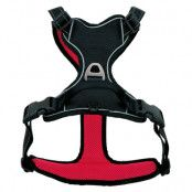Pawz & Pepper Strong Harness - röd/svart - Stl. L: bröstomfång 68 - 82 cm