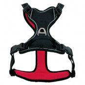 Pawz & Pepper Strong Harness - röd/svart - Stl. S: bröstomfång 46 - 56 cm