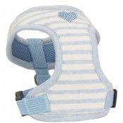 Stripey Heart - Blå Sele och Koppel - XL