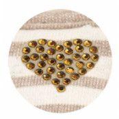 Stripey Heart - Brun Sele och Koppel
