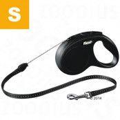 flexi New Classic S - 8 m cord - svart