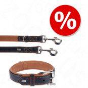 HUNTER Canadian Elk set halsband + koppel - Stl. halsband 60 + koppel 200 cm/20 mm