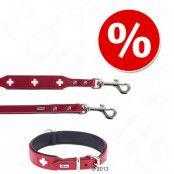 HUNTER Swiss halsband + koppel - Halsband storlek 55 + koppel 200 cm/18 mm