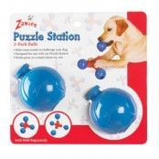 Zanies Puzzle Station 2-Pack Bollar