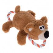 Björn med rep hundleksak - Ekonomipack: 2 st