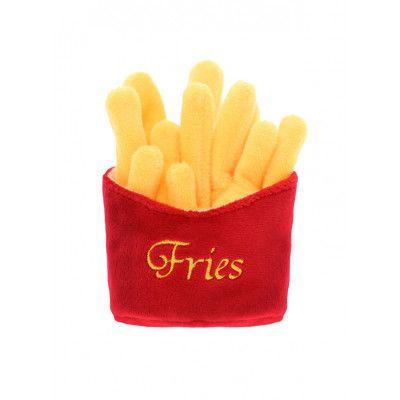 Fries Plush & Squeaky Hundleksak