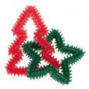 Julgran och stjärna hundleksak - 1 st