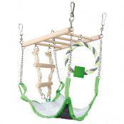 Trixie träbro med hängmatta - L 17 x B 15 x H 22 cm
