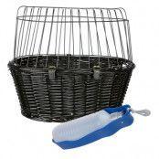 Trixie cykelkorg + dricksflaska med integrerad skål - Trixie cykelkorg + vattenflaska 500 ml