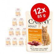Animonda Carny Pouch 12 x 85 g - Nötkött & struts